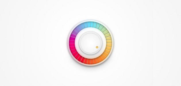 rainbow-volume-knob